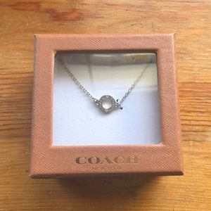 Coach silver ring necklace
